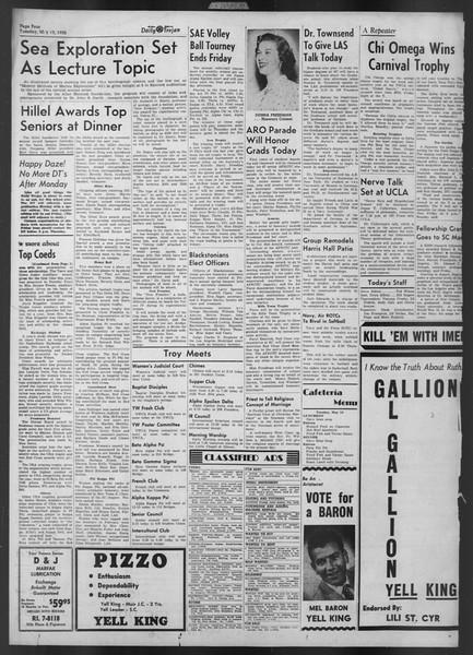 Daily Trojan, Vol. 43, No. 133, May 13, 1952