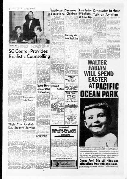 Daily Trojan, Vol. 51, No. 100, April 04, 1960
