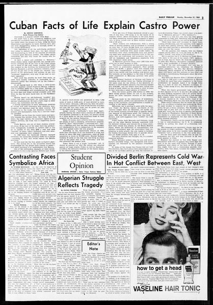 Daily Trojan, Vol. 52, No. 46, November 21, 1960