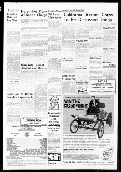 Daily Trojan, Vol. 52, No. 97, March 24, 1961