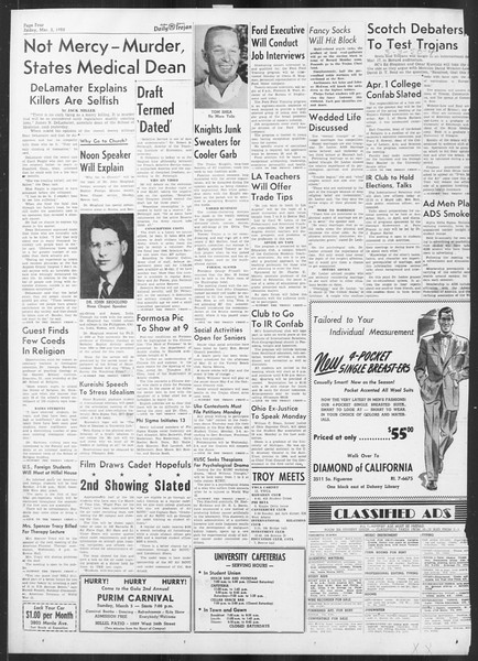 Daily Trojan, Vol. 41, No. 87, March 03, 1950