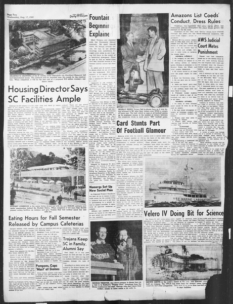 Daily Trojan, Vol. 41, No. 1, August 17, 1949