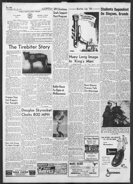 Daily Trojan, Vol. 41, No. 53, November 23, 1949