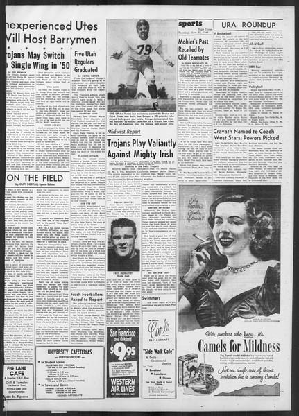 Daily Trojan, Vol. 41, No. 55, November 29, 1949