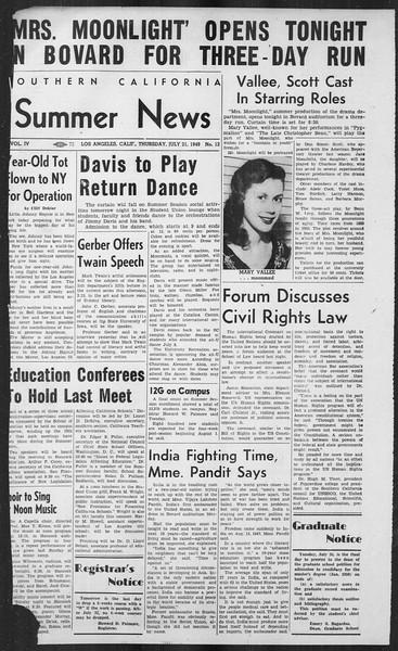 Summer News, Vol. 4, No. 12, July 21, 1949