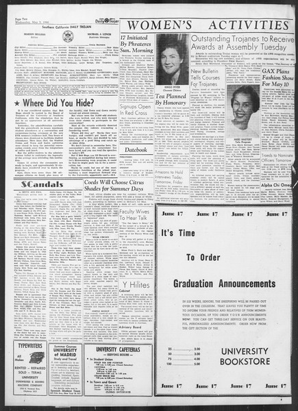 Daily Trojan, Vol. 41, No. 128, May 03, 1950
