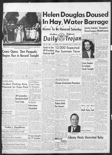 Daily Trojan, Vol. 41, No. 138, May 17, 1950