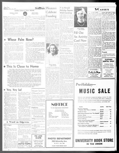 Daily Trojan, Vol. 40, No. 64, December 14, 1948