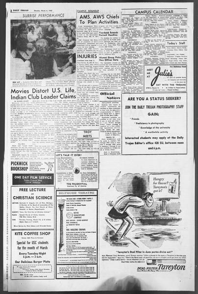 Daily Trojan, Vol. 54, No. 74, March 04, 1963