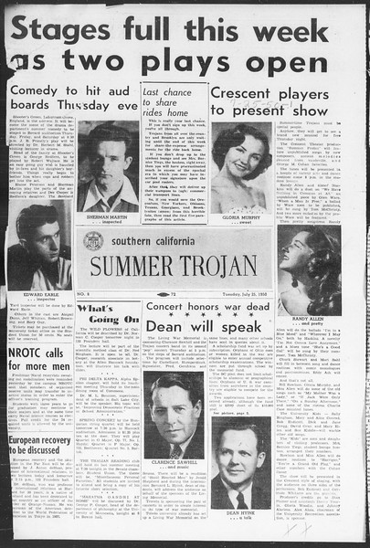 Summer Trojan, Vol. 5, No. 8, July 25, 1950
