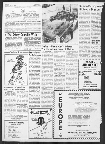 Daily Trojan, Vol. 41, No. 67, December 15, 1949