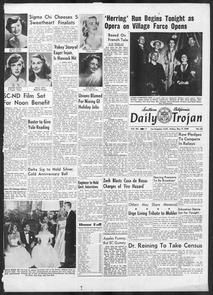 Daily Trojan, Vol. 41, No. 63, December 09, 1949