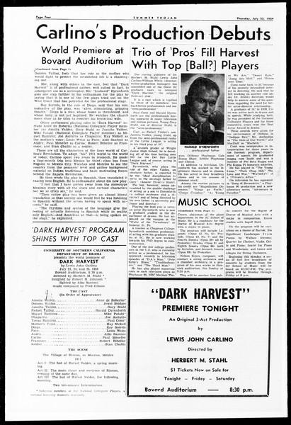 Summer Trojan, Vol. 9, No. 10, July 23, 1959