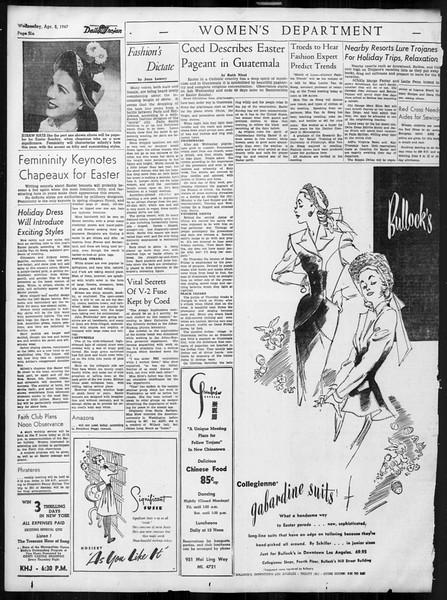 Daily Trojan, Vol. 38, No. 108, April 02, 1947