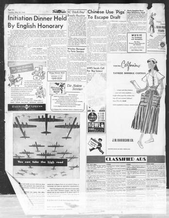 Daily Trojan, Vol. 39, No. 147, May 25, 1948