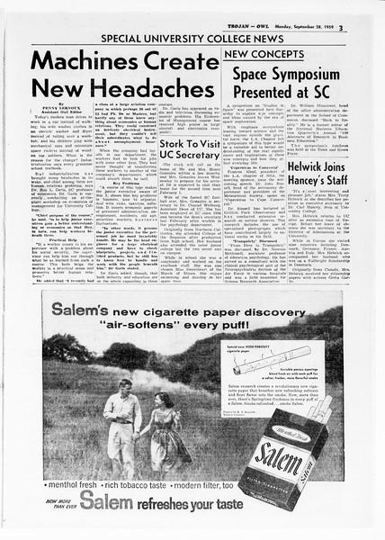 Daily Trojan, Vol. 51, No. 6, September 28, 1959