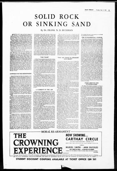 Daily Trojan, Vol. 52, No. 123, May 11, 1961