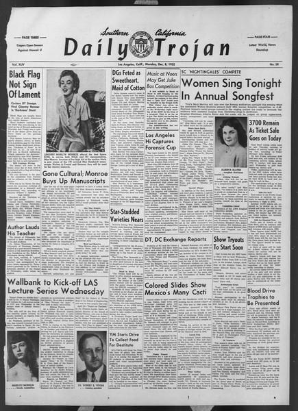 Daily Trojan, Vol. 44, No. 58, December 08, 1952