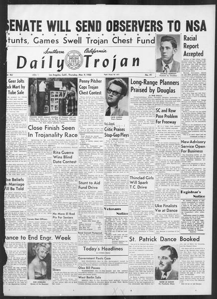Daily Trojan, Vol. 41, No. 91, March 09, 1950