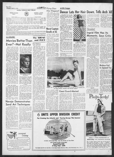 Daily Trojan, Vol. 41, No. 109, April 04, 1950