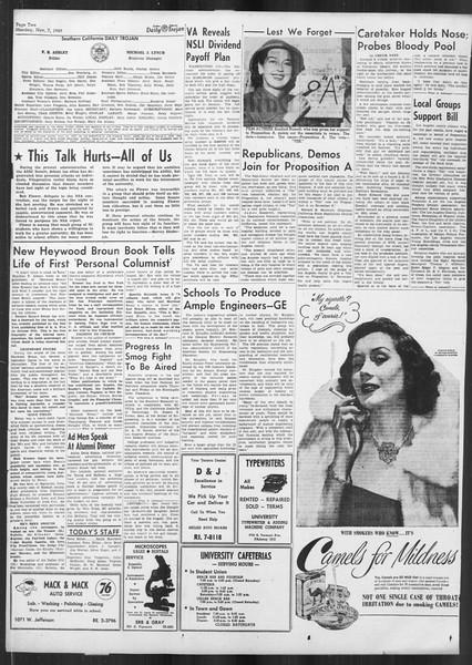 Daily Trojan, Vol. 41, No. 41, November 07, 1949
