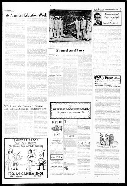 Daily Trojan, Vol. 49, No. 36, November 12, 1957