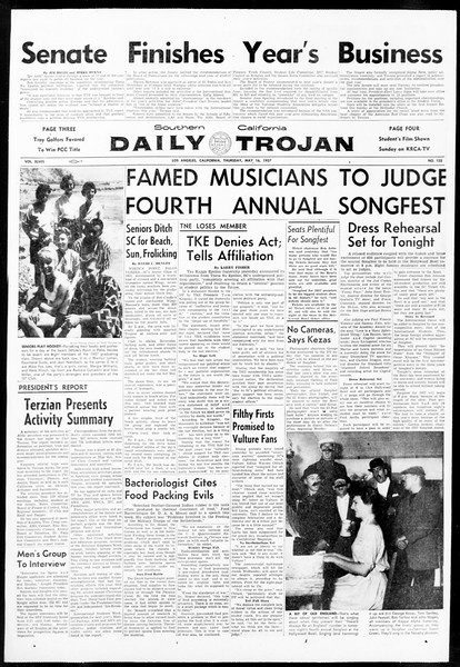Daily Trojan, Vol. 48, No. 132, May 16, 1957
