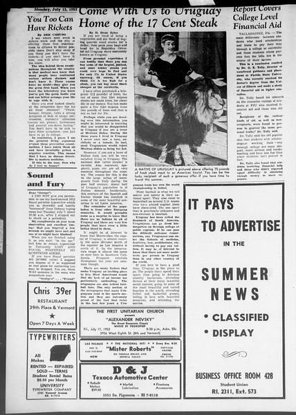 Summer News, Vol. 8, No. 7, July 13, 1953