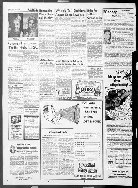 Daily Trojan, Vol. 45, No. 29, October 30, 1953