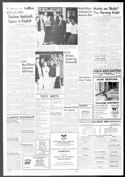 Daily Trojan, Vol. 48, No. 15, October 11, 1956