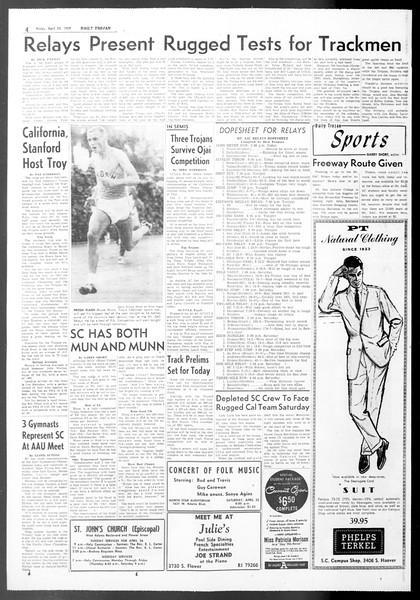 Daily Trojan, Vol. 50, No. 113, April 24, 1959
