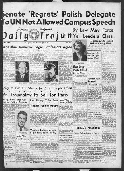 Daily Trojan, Vol. 42, No. 107, April 12, 1951