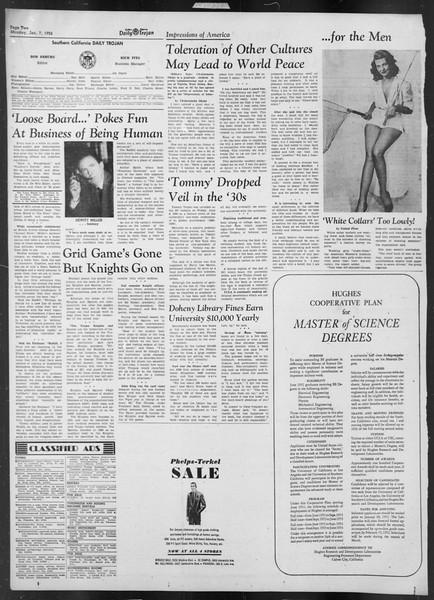 Daily Trojan, Vol. 43, No. 64, January 07, 1952