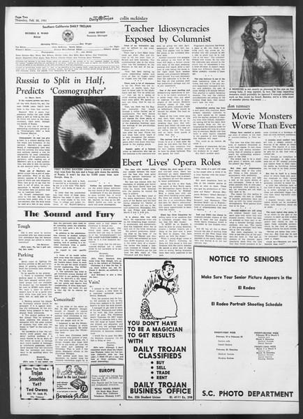 Daily Trojan, Vol. 42, No. 77, February 22, 1951