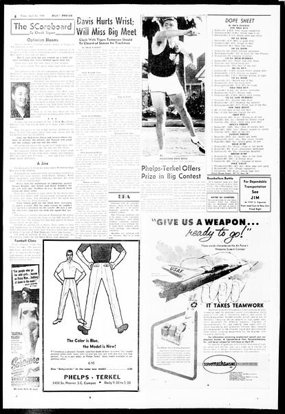 Daily Trojan, Vol. 49, No. 108, April 25, 1958
