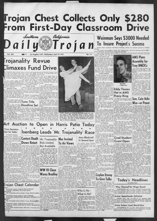 Daily Trojan, Vol. 42, No. 111, April 18, 1951