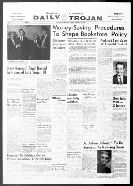 Daily Trojan, Vol. 50, No. 76, February 24, 1959