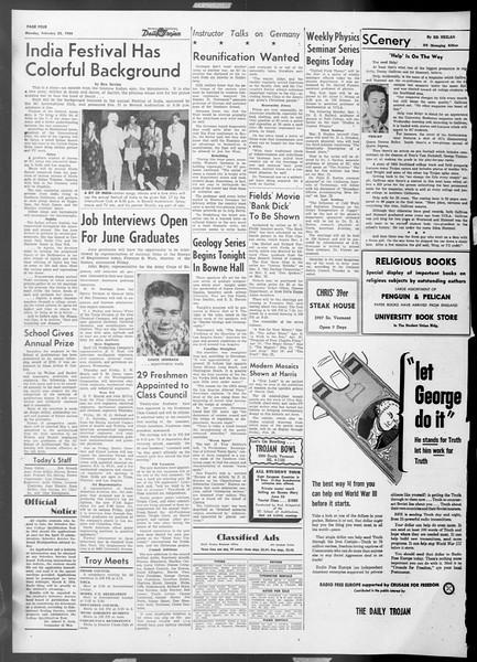 Daily Trojan, Vol. 45, No. 78, February 22, 1954