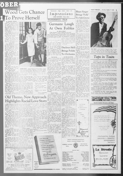Daily Trojan, Vol. 53, No. 24, October 19, 1961