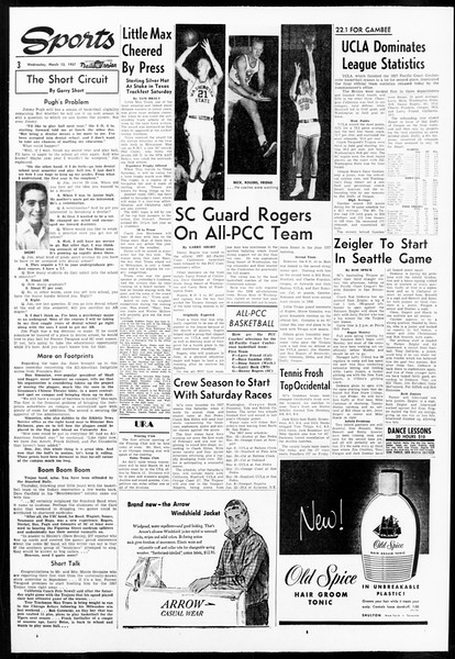Daily Trojan, Vol. 48, No. 92, March 13, 1957