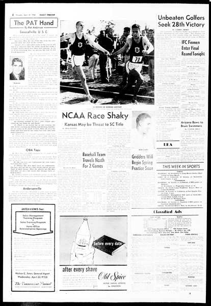 Daily Trojan, Vol. 49, No. 99, April 10, 1958