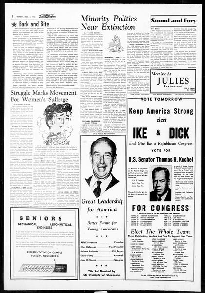 Daily Trojan, Vol. 48, No. 32, November 05, 1956