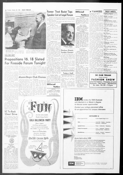 Daily Trojan, Vol. 50, No. 29, October 30, 1958