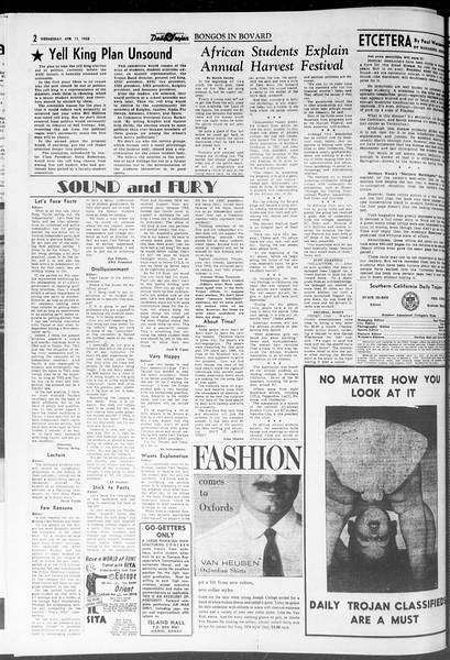 Daily Trojan, Vol. 47, No. 110, April 11, 1956