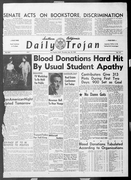Daily Trojan, Vol. 44, No. 117, April 23, 1953