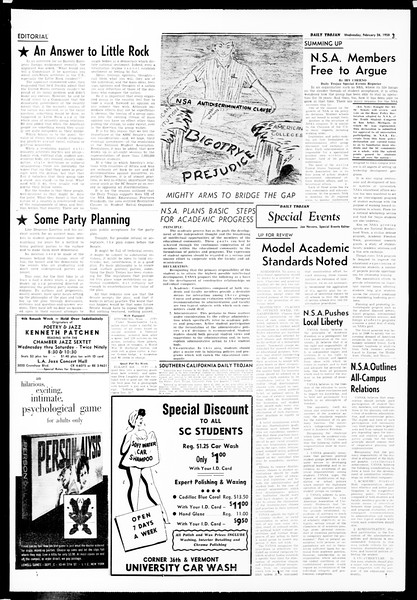 Daily Trojan, Vol. 49, No. 74, February 26, 1958