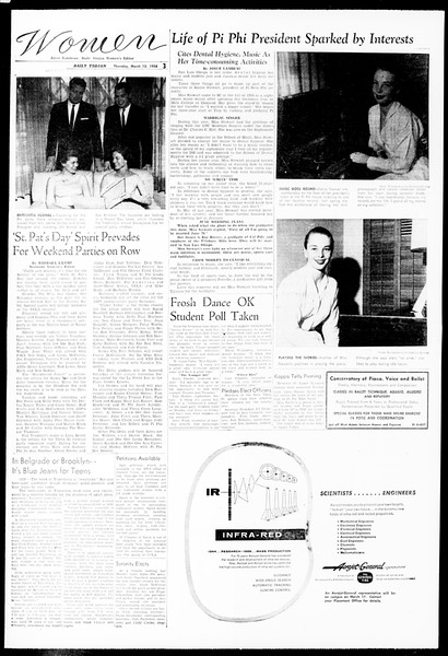 Daily Trojan, Vol. 49, No. 85, March 13, 1958
