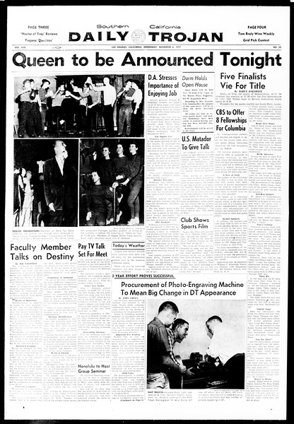 Daily Trojan, Vol. 49, No. 32, November 06, 1957