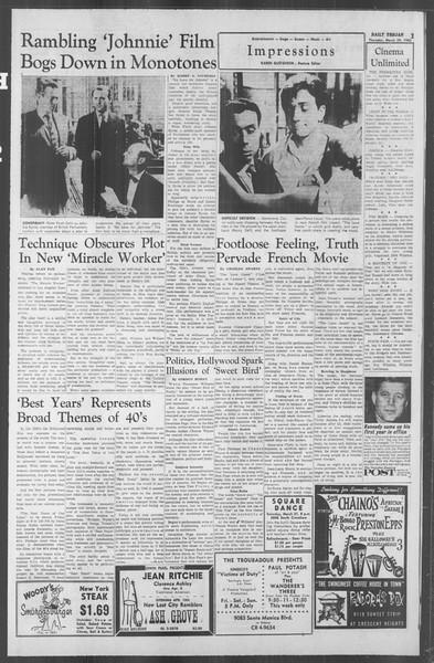 Daily Trojan, Vol. 53, No. 99, March 29, 1962