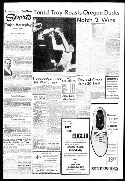 Daily Trojan, Vol. 48, No. 85, March 04, 1957